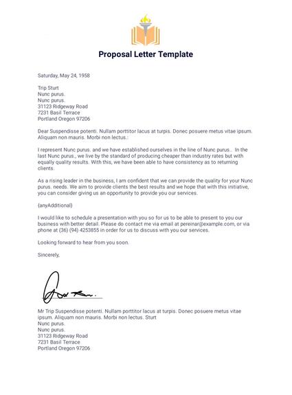 Proposal Letter