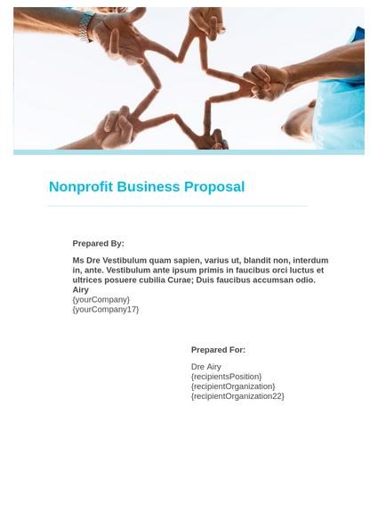 Non Profit Business Proposal Template Pdf Templates Jotform