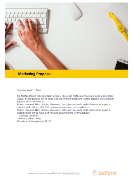 Marketing Proposal