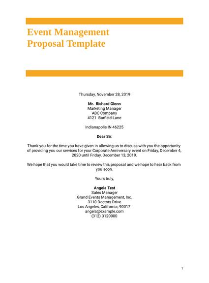 Event Management Proposal