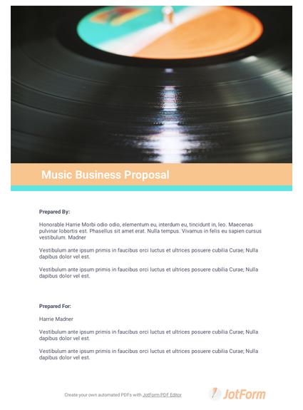 Music Business Proposal