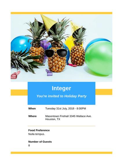 Holiday Invitation Party