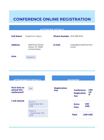 Online Conference Event