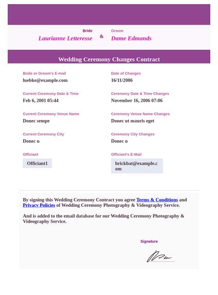 wedding ceremony contract template pdf templates jotform