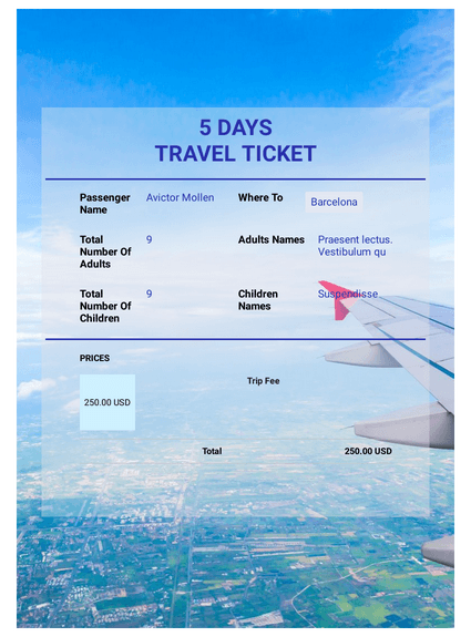 Travel Booking Request