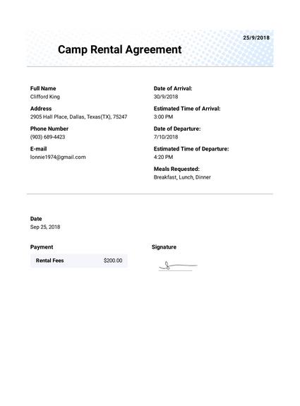 Studio Rental Lease Agreement Template Pdf Templates Jotform