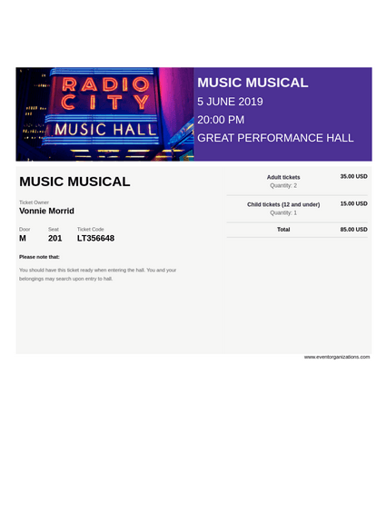 Musical Ticket