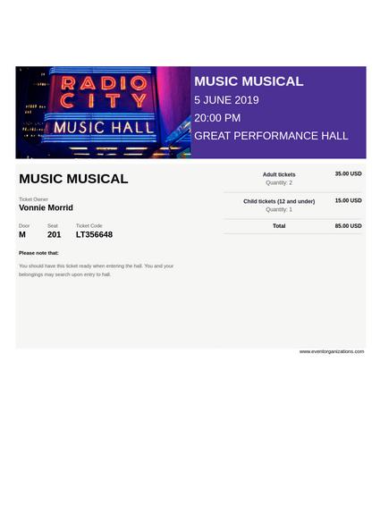 Musical Ticket