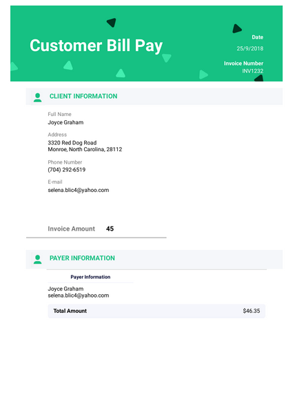 view template simple receipt