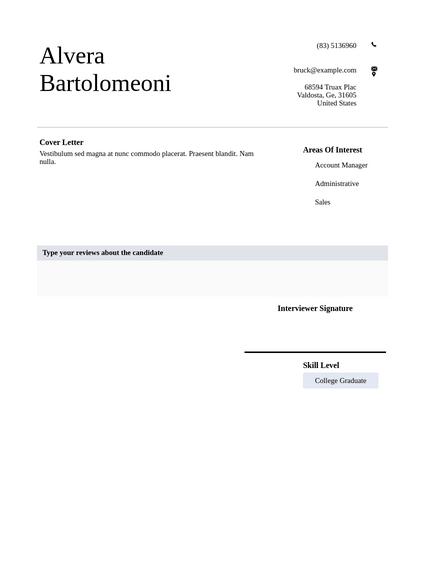 Simple resume pdf templates jotform resume collection friedricerecipe Images