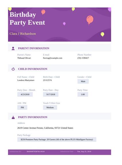 Birthday Party Event