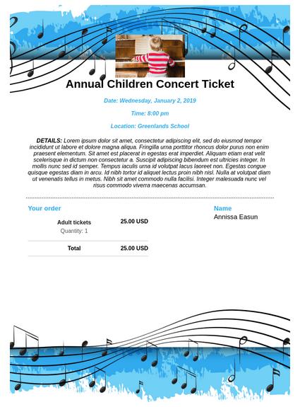 Children's Concert Ticket