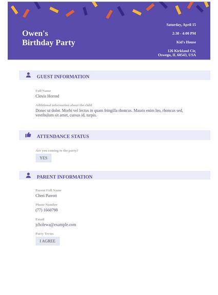 Professional Birthday Party Invitation