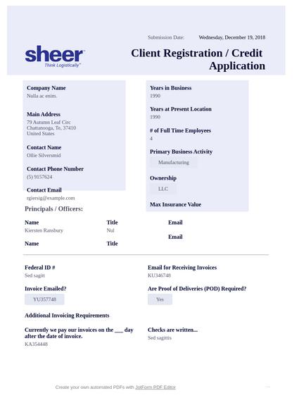 credit application pdf templates jotform