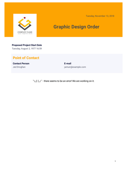 Graphic Design Order