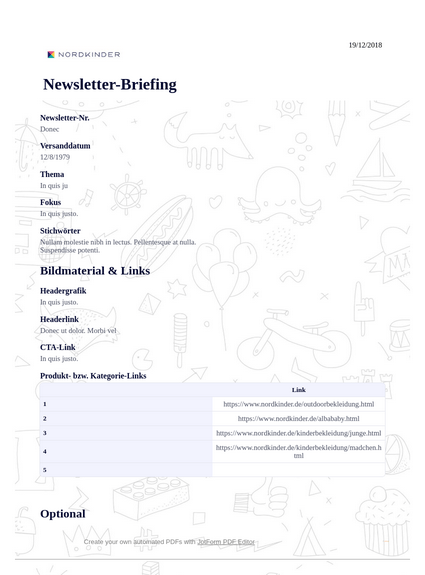Nordkinder Newsletter-Briefing (Standard) PDF