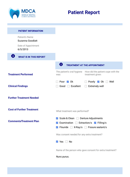Mobile Dental Mission Form