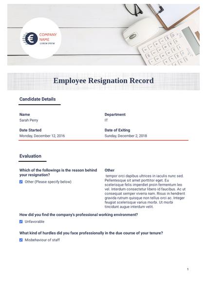 Employee Resignation