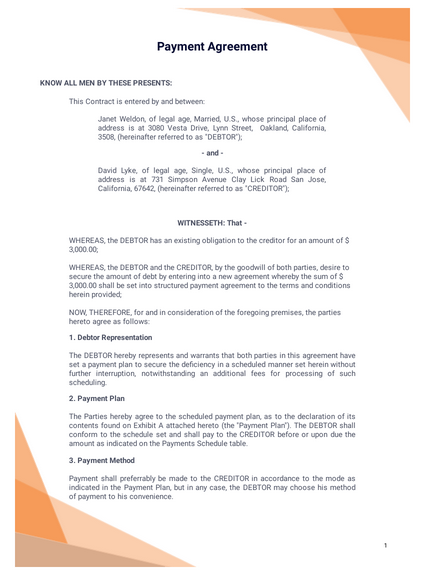 Payment Agreement Template Pdf Templates Jotform