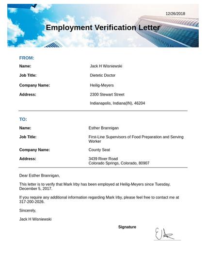 Account Verification Letter Template.Employment Verification Letter Template Pdf Templates