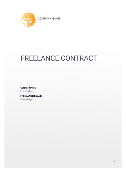 Freelance Contract Template Pdf Templates Jotform