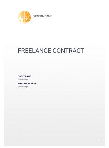 Freelance Contract Template Pdf Templates Jotform