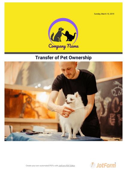 Transfer of Pet Ownership