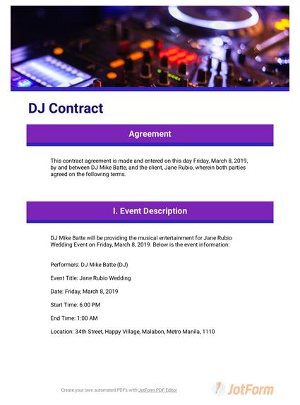 DJ Contract