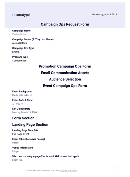 Campaign Ops Request Form PDF