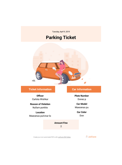 parking ticket template