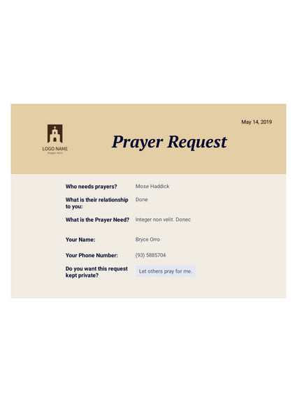 Prayer Request PDF
