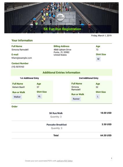 5k Registration