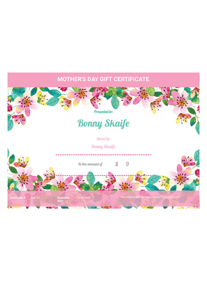 Mother's Day Gift Certificate