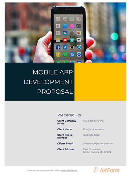 Mobile App Development Proposal Template Pdf Templates