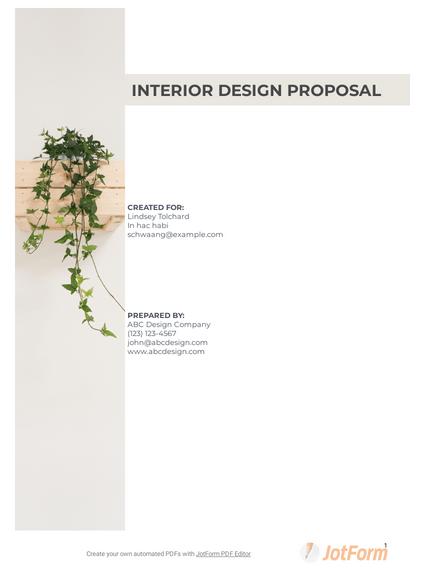 Interior Design Proposal