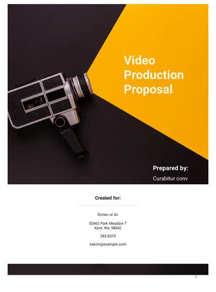 Video Production Proposal Template Pdf Templates Jotform