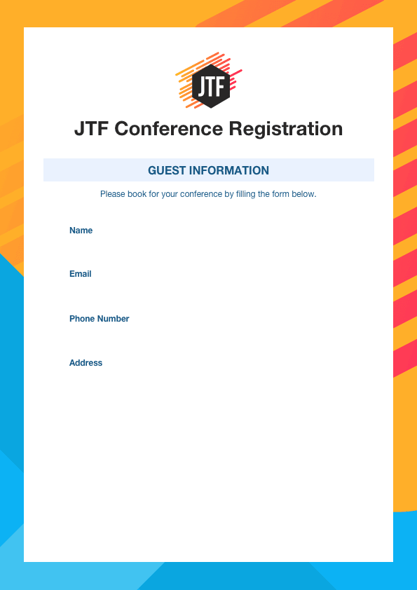 Fillable PDF Form in action